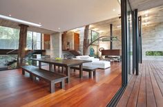 Trees in the house - Corallo House by  PAZ Arquitectura via @ArchDaily