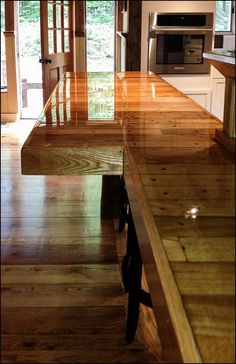 Wood Plank Bar Top Epoxy