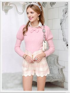 Morpheus Boutique  - Pink Bow Knit Long Sleeve Lovely Top Sweater, $69.99 (http://www.morpheusboutique.com/pink-bow-knit-long-sleeve-lovely-top-sweater/)