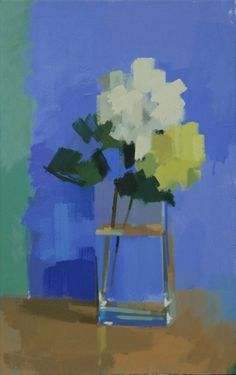 Vase of Hydrangeas by Philip Richardson