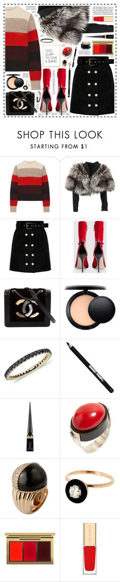 """""""So Extra!"""" by hennie-henne ❤ liked on Polyvore featuring rag & bone, Lolita Lempicka, Gucci, Chanel, MAC Cosmetics, Blue Nile, Manic Panic NYC, Christian Louboutin, Selim Mouzannar and Jane Iredale"""