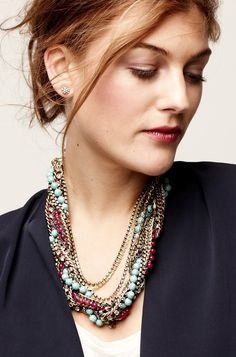 Shop Stella & Dot for jewelry, bags, accessories, and clothing for trendy women. Stella & Dot is unique in that each of our styles are powered by women for women. Shop Stella & Dot online or in stores, or become a independent ambassador and join our team! Jewelry Necklaces, Beaded Necklace, Statement Necklaces, Jewellery, Layered Chains, Turquoise Necklace, Jewelry Accessories, Fashion Jewelry, Bling