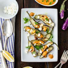 The Bojon Gourmet: Roasted Tiny Eggplant with Muhammara and Feta