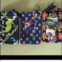 Nwt Vera Bradley Disney bundle 3 zip id case Vera Bradley Disney bundle 3 zip id case where is Mickey / dreaming mouse / midnight with Mickey Vera Bradley Accessories Key & Card Holders
