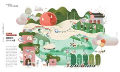 Lee Minjin / illustration City Illustration, Business Illustration, Graphic Design Illustration, Map Design, Branding Design, Sports Graphic Design, Newsletter Design, Information Design, Illustrations And Posters
