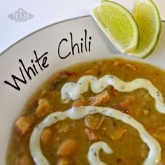 Must try! White chili recipe.
