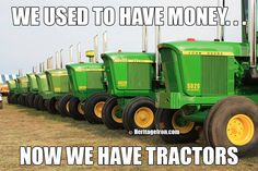 #FundayFriday Which brand got all your money? #JD #HeritageIron #MuscleTractor