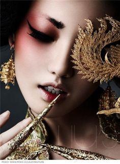 china, dark, and fashion image