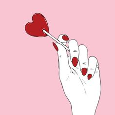 pink, red, and hand Bild