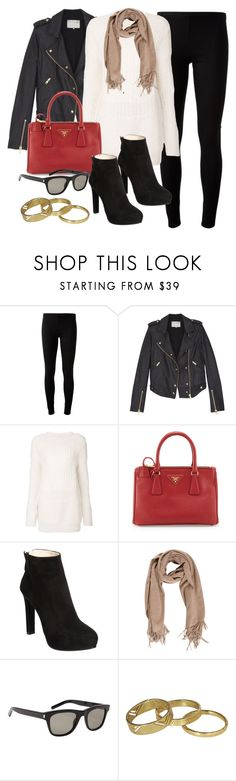"""Style #9546"" by vany-alvarado ❤ liked on Polyvore featuring P.A.R.O.S.H., IRO, Prada, Acne Studios, Yves Saint Laurent and Scotch & Soda"