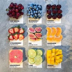 Top, Middle or Bottom? Which row of these new fruit cards do you pick? 😌 Only 2 fruits here are currently in season for the month of August… Rainbow Aesthetic, Aesthetic Food, Fruit Animals, Flower Mirror, August Month, Fruit Wedding, Strawberry Blueberry, New Fruit, Paint Chips