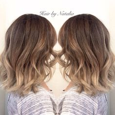 Blonde Balayage Sombre on short hair. Balayage for fall. Balayage in Denver at Hair by Natalia. #Balayage #Sombre #fallhair…