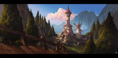 Animation themed matte painting concept by Pwnage99