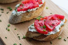 Herbed Ricotta and Tomato Crostini.