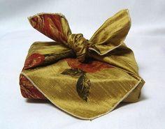 silk furoshiki gift wrap