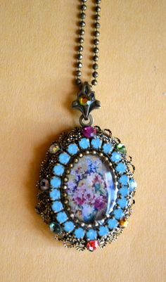 Michael Negrin Locket Pendant & Matching Necklace by ESTATENOW, $47.50  LOWEST PRICE ..GREAT GIFT IDEA..