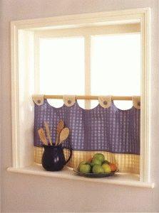 café rideau sur la moitié inférieure de la fenêtre - Rideaux