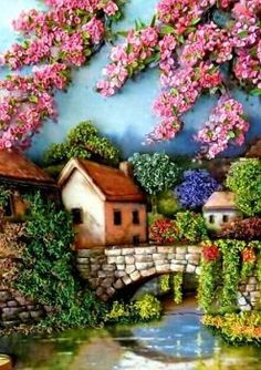A virtual jigsaw puzzle from Jigidi (70 pieces ) Jigsaw Puzzles, Linda E Maravilhosa, Needlework, Fantasy, Painting, Beautiful Birds, Clip Art, Landscapes, Garden