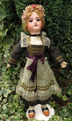 "Stunning SFBJ 60 Paris Antique Bisque Head Bleuette Face Doll - French - 17"" | eBay"