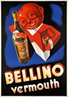 Eugene PATKEVITCH – Vintage poster – Great Art Deco Swiss poster by Eugène Patkévitch, rare. Vintage Italian Posters, Vintage Advertising Posters, Vintage Advertisements, Retro Poster, Poster Ads, Poster Vintage, Vintage Labels, Vintage Ads, Wine Poster