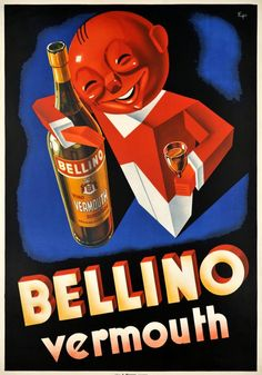 Vintage Italian Posters ~ #Vintage #Italian #posters ~ Bellino Vermouth
