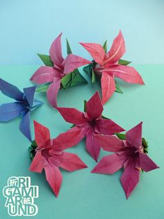 413 best origami flowers images on pinterest in 2018 origami my next project these days im experimenting with painting the paper before folding mightylinksfo