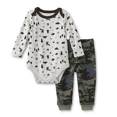 Little Wonders Newborn & Infant Boy's Bodysuit & Sweatpants - Camo