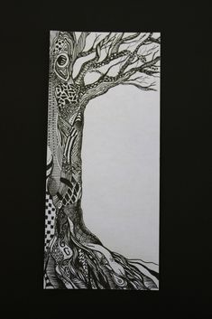 I have always loved drawing trees and also doodling. This pieces mixes the two together!