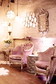 Pink and Gold showroom