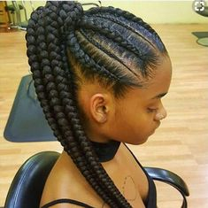 Feed In Braids Corn Rows Ponytail Black Hair Protective Style Feed In Braids Ponytail, Braided Ponytail Hairstyles, African Braids Hairstyles, Weave Hairstyles, Girl Hairstyles, Cornrow Ponytail, Corn Row Hairstyles, Braided Ponytail Black Hair, Hair Ponytail