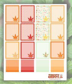 Marijuana Planner Stickers - Fall Cannabis Harvest Stickers - Craft…
