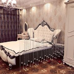 """Universe of goods - Buy """"Fashion Crystal glass bead Curtain Indoor Home Decoration Luxury Wedding backdrop Decoration supplies"""" for only 144 USD. Cheap Curtains, Home Curtains, Colorful Curtains, Window Curtains, Beaded Door Curtains, Crystal Curtains, Home Wedding Decorations, Backdrop Decorations, Curtain Styles"""