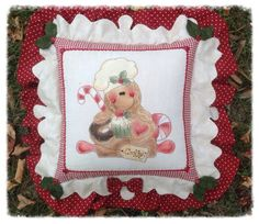 Cartamodelli Gingerbread : Cartamodello cuscino stitchery ginger pasticcere