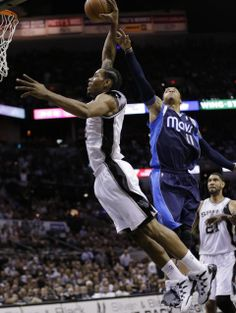 Kawhi Leonard with a monster dunk in game 5 vs. the Mavericks in Round 1 of the 2014 NBA Playoffs #Spurs