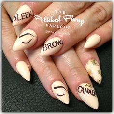 Sleek Brows branding nails