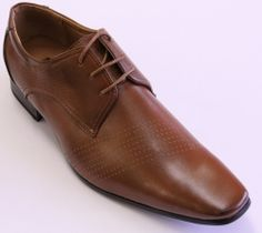 MENS COFFEE DRESS SHOES LACED