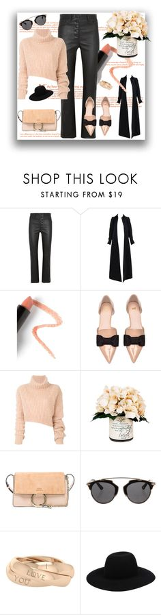 """""""I like it nice"""" by j477 ❤ liked on Polyvore featuring Joseph, Alaïa, Lapcos, H&M, Ann Demeulemeester, Creative Displays, Chloé, Christian Dior, StyleRocks and Off-White"""