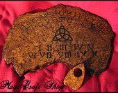 BOX Charmed - Ouija Board Big size 40x60cm - Book of Shadows Medium size 22x16 cm - wicca pagan. $154.50, via Etsy.