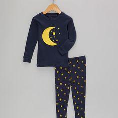 Loving this Leveret Navy Moon Star Pajama Set - Infant, Toddler & Kids on Kids Pajamas, Pyjamas, Fleece Pajamas, Toddler Outfits, Boy Outfits, Kid Styles, My Little Girl, Fashion Kids, Stars And Moon