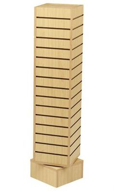 "12"" Rotating Slatwall Tower- Maple"