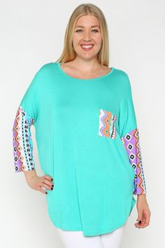 Jade Pocket Tunic - #blondellamydean #plussizefashion #plussize #curves