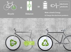 #Energy #bike concept charges portable gadgets on the move #sustainable #green