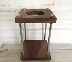 Pour Over Coffee Stand Walnut by DeesWoodshop on Etsy