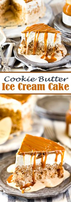 Cookie Butter Ice Cream Cake Recipe for Summer Dessert is melt in your mouth awesome and takes 10 minutes prep.