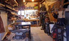Turn your garage into a blacksmithing and woodworking shop