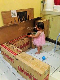 Come creare una cucina fai da te per far giocare i bambini (FOTO ...