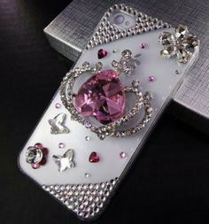 TEAM LUXURY® 3D Bling Crystal Pink Crown Clear Case Cover for iphone 4 & 4s Made w/ Swarovski Elements by TEAM LUXURY, http://www.amazon.com/dp/B007989T7G/ref=cm_sw_r_pi_dp_Qdycrb074V4T3
