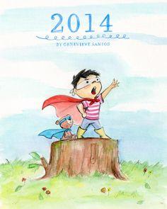 Genevieve Santos Image of 2014 12-Month Calendar