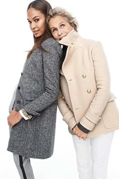 Crew goes back to its heritage for a brand new style guide featuring top models including Andreea Diaconu, Erin Wasson, Lauren Hutton, Joan Smalls… J Crew Looks, J Crew Catalog, J Crew Outfits, Fall Outfits, Looks Style, My Style, Lauren Hutton, Joan Smalls, J Crew Style