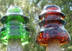 Obsessed with Collecting these, now if Michael could just find the rare pink One Antique Bottles, Bottles And Jars, Antique Glass, Glass Bottles, Electric Insulators, Glass Insulators, Fenton Glass, Glass Ceramic, Porcelain Insulator